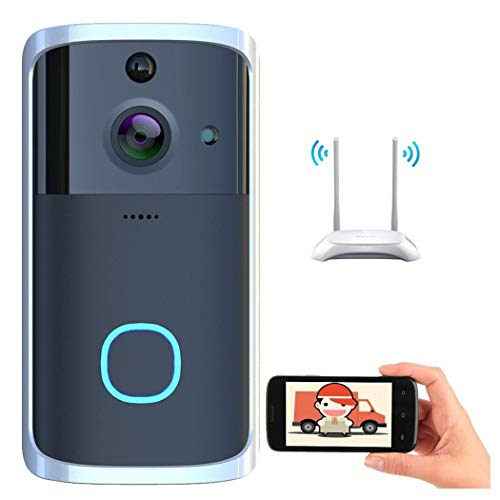 Wireless Visual WiFi Doorbell Security Camera with PIR Motion Detection Night Vision Two-Way Talk & Real-time Video