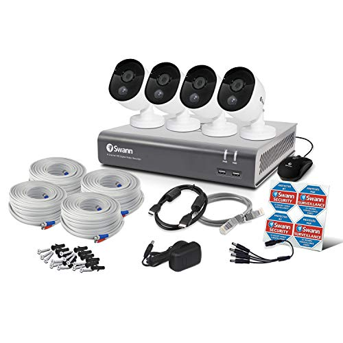 Swann 4 Camera 8 Channel 1080P Dvr Security System | 1TB HDD, Heat & Motion Sensing + Night Vision