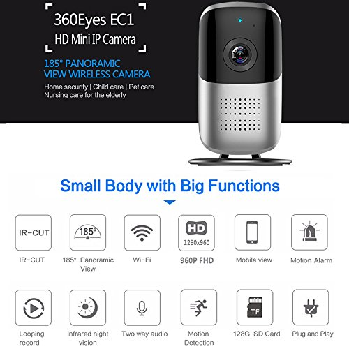 Bellcam Home Security Camera, Wifi IP Camera, Wireless Surveillance System, 960P HD Panoramic Baby Monitor with Night Vision Motion Detection Two-way Audio 165 Degree Wide Angle Lens