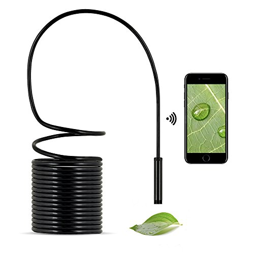 Endoscope Wifi HD Camera - Inspection camera, Borescope HD, Waterproof Snake Camera for iOS Smartphone, iPhone, Windows, Android - Included Magnet, 90 Degree Mirror&Hook