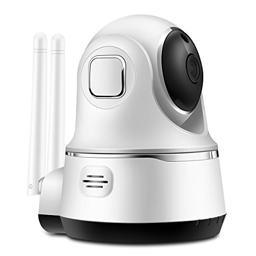 Wifi Camera with Two-way Audio,720P HD,Motion Detection,Pan/Tilt,Night Vision,SDcard Rec,Home Smart Camera for Pet Baby Monitor,Wireless IP Security Surveillance Camera
