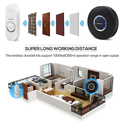 Wireless Home Security Alarm System Anti-theft Siren, App Controlled by Android IOS Smartphone,DIY Kitwith 1 Smart WiFi Hub, 5 Contact Sensors, 2 Motion Sensors, 1 Doorbell Button,Works with Alexa