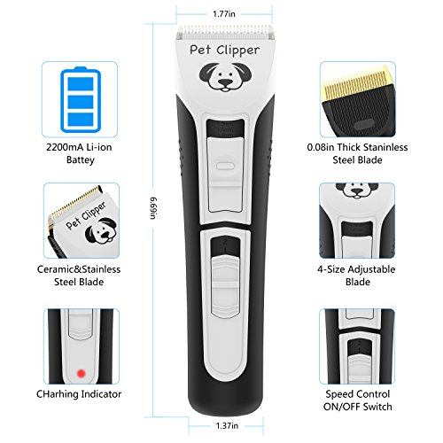 Dog Clippers Pet clippers 2-Speed