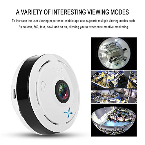 IP Camera 360 Degree Panoramic 3D VR Wireless Wifi 2.4GHZ Security Camera Outdoor Super Wide Angle Support IR Night Motion Detection Keep Home Safe