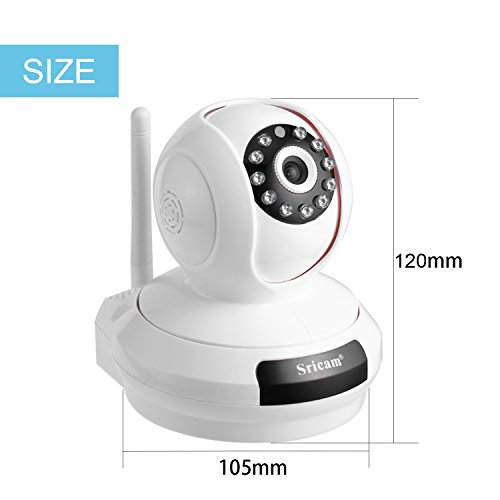 LESHP Wireless WiFi 720P HD Pan Tilt IP Camera, Pet Dog Smart Camera for Surveillance Home Security Webcam (Day/Night Vision, 2 Way Audio, Micro SD Card Support 128GB, Remote Motion Detect Alert)