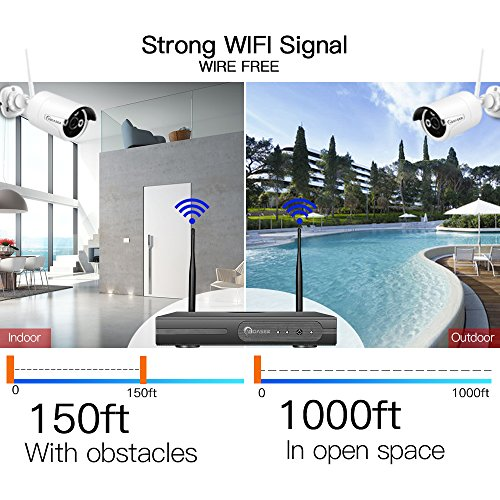 WOASER Wireless HD Outdoor Home Security Kit Video Surveillance Camera System