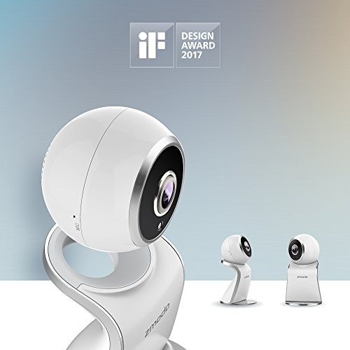 Zmodo Sight 180 HD 1080p Wireless IP Home Security Surveillance Camera System Two Way Audio Night Vision 180 Degree Viewing Angle - Cloud Service Available, 2017 iF Design Award Winner