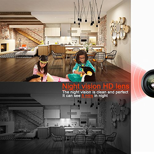 PANORAXY PA-W100V.3 P2P IP Spy Security Cam,Invisible Lens,8Mtrs Night View,IOS Android App for Mobile PAD,with 16G Toshiba SD, Continuous Power Battery,Time Stamp in Video,Circle Record(White)¡