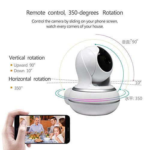 Wireless IP Camera, Two-way Audio, 2.4GHz WIFI 720P Camera for Pet Baby Monitor, Night Vision Camera, Home Security Camera Motion Detection Indoor Camera