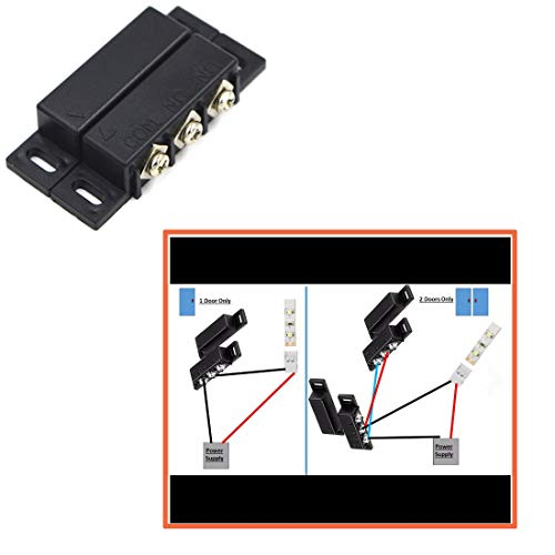 SpzcdZa 3Sets Magnetic Reed Switch