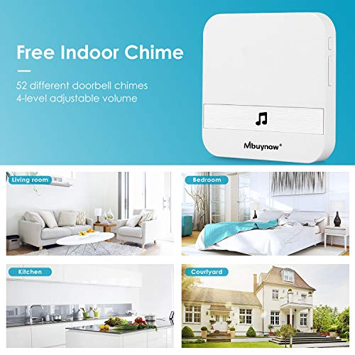 Wireless Video Doorbell Camera, Mbuynow